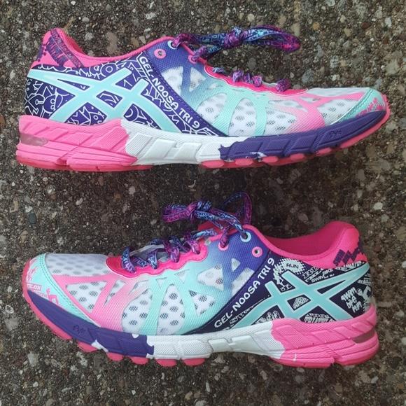 super popular 90e9f c7b7a Asics Shoes - Asics Gel Noosa Tri 9 Pink White Sneakers 7.5